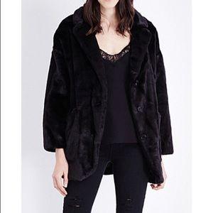 The Kooples Faux Fur Coat size xs